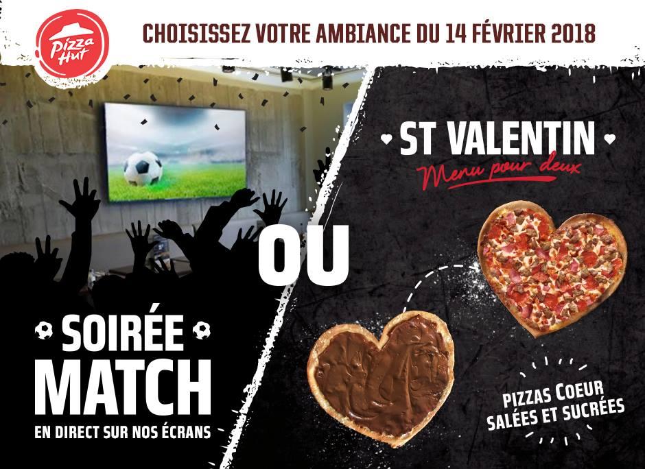 Célébrez la St Valentin avec des pizzas en forme de coeur dans les Restaurants Pizza Hut